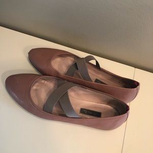 SJP Blush Leather Matinee Ballet Flat